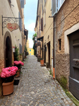 Quiet Streets in a Small Italian Town by Hallie Becker