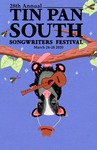 2020 Tin Pan South Songwriting Festival poster by Jordan Zinn